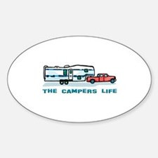 The campers life Oval Decal