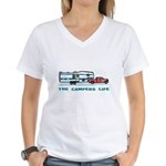 The campers life Women's V-Neck T-Shirt