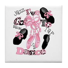 Cute Tap on toe Tile Coaster
