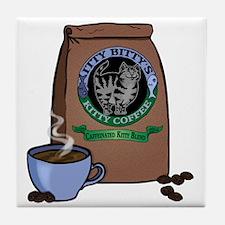Caffeinated Kitty Blend Tile Coaster