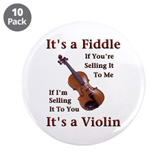 "Fiddle or Violin 3.5"" Button (10 pack)"