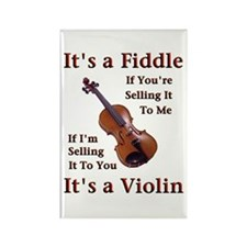 Fiddle or Violin Rectangle Magnet