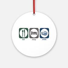 Eat Sleep HVAC Ornament (Round)