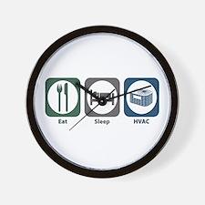 Eat Sleep HVAC Wall Clock
