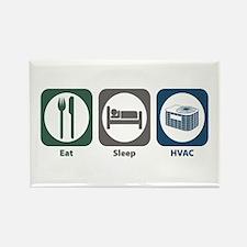 Eat Sleep HVAC Rectangle Magnet