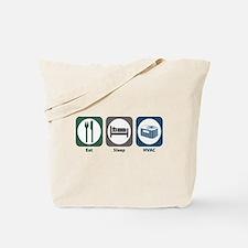 Eat Sleep HVAC Tote Bag