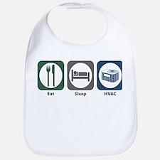 Eat Sleep HVAC Bib