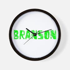Branson Faded (Green) Wall Clock