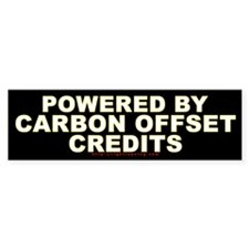 Carbon Offset Credits Bumper Bumper Sticker