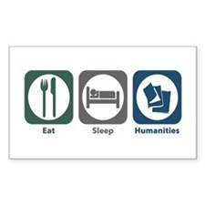 Eat Sleep Humanities Rectangle Decal