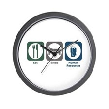 Eat Sleep Human Resources Wall Clock