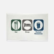 Eat Sleep Human Resources Rectangle Magnet (100 pa