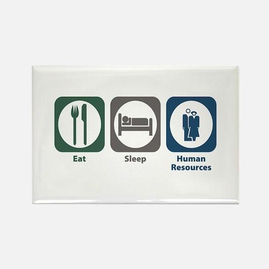 Eat Sleep Human Resources Rectangle Magnet (10 pac