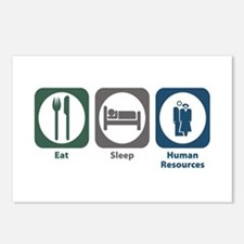 Eat Sleep Human Resources Postcards (Package of 8)
