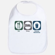 Eat Sleep Human Resources Bib