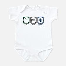 Eat Sleep Human Resources Infant Bodysuit