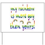 More gay rainbow Yard Sign