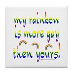 More gay rainbow Tile Coaster
