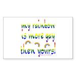 More gay rainbow Rectangle Sticker 10 pk)