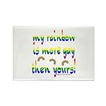 More gay rainbow Rectangle Magnet (10 pack)