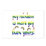 More gay rainbow Postcards (Package of 8)