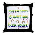 More gay rainbow Throw Pillow