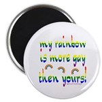 More gay rainbow Magnet