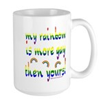 More gay rainbow Large Mug
