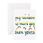 More gay rainbow Greeting Cards (Pk of 10)