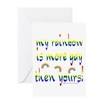 More gay rainbow Greeting Card