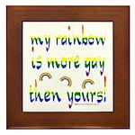 More gay rainbow Framed Tile