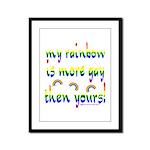 More gay rainbow Framed Panel Print