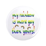 """More gay rainbow 3.5"""" Button (100 pack)"""