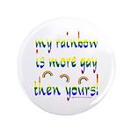 "More gay rainbow 3.5"" Button"