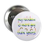 "More gay rainbow 2.25"" Button"