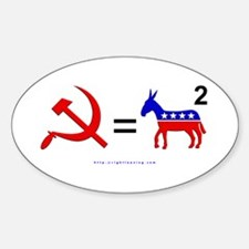 Democrats Squared Oval Decal