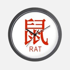 Zodiac Rat Wall Clock