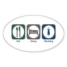 Eat Sleep Hosting Oval Decal