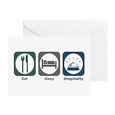 Eat Sleep Hospitality Greeting Card