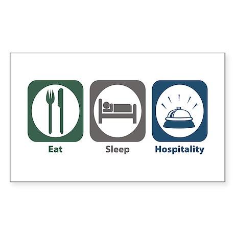 Eat Sleep Hospitality Rectangle Sticker