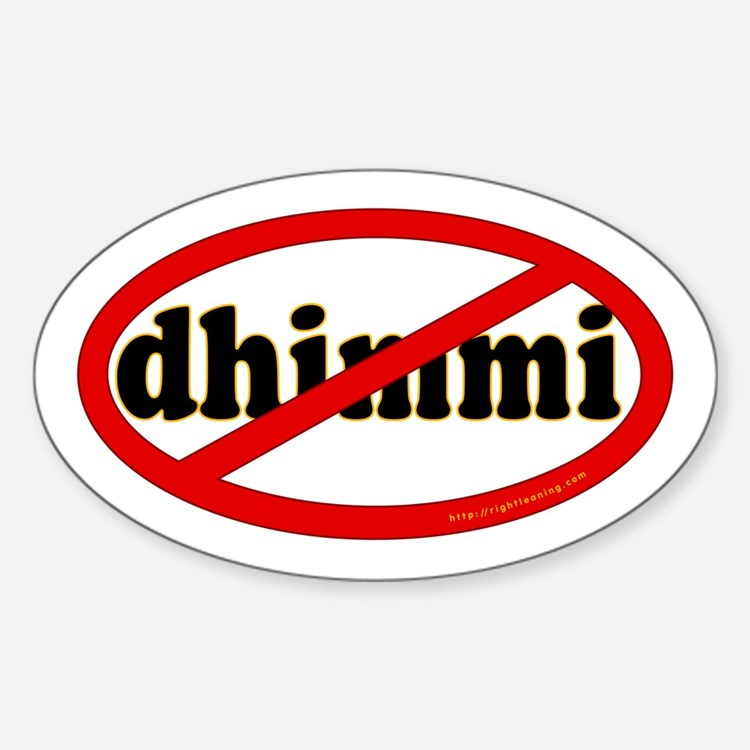 No Dhimmi Oval Decal