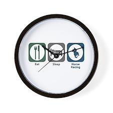 Eat Sleep Horse Racing Wall Clock