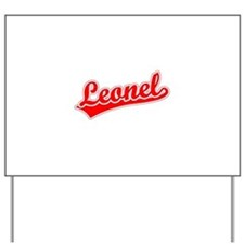 Retro Leonel (Red) Yard Sign