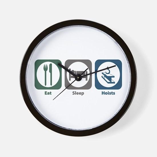 Eat Sleep Hoists Wall Clock