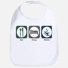 Eat Sleep Hoists Bib