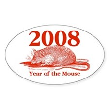 2008 Year of the Mouse Oval Decal