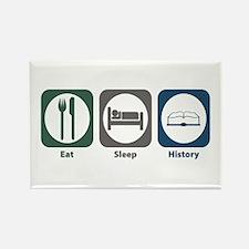 Eat Sleep History Rectangle Magnet