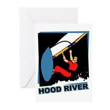 Hood River Windsurfing T-shir Greeting Cards (Pk o