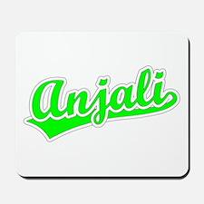 Retro Anjali (Green) Mousepad