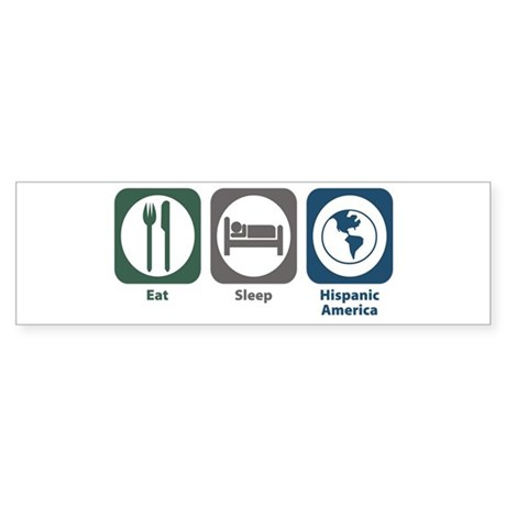 Eat Sleep Hispanic-American Studies Sticker (Bumpe